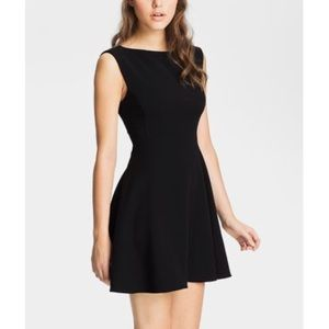 Free people ponte fit and flare black dress